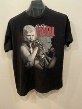 Blly Idol Black Short Sleeve T Shirt Size XL Rebel Yell Extra Large - $21.29