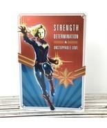 Captain Marvel Mothers Day Greeting Card Hallmark Metallic Mom Super Hero - $11.58