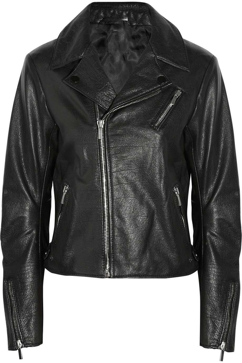 WOMENS LEATHER JACKET BLACK COLOR BIKER LEATHER JACKET FOR WOMENBIKER JACKET - Coats U0026 Jackets