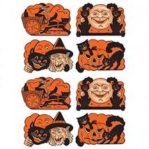"8 Vintage Halloween Cutouts 9"" - Cats, Moon, Jack-O-Lantern, Witch - Ora... - €14,98 EUR"
