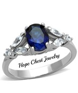 WOMEN'S STAINLESS STEEL 1.5 CT OVAL CUT BRIDAL CZ ENGAGEMENT RING SIZE 5... - $13.99