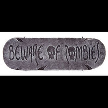 Gothic Warning Sign-BEWARE of ZOMBIES-Walking Dead Halloween Prop Decora... - $5.91