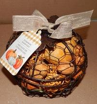 Pumpkin Harvest Scented Potpourie Metal Bowel & Lid Ashland Everything P... - $20.77 CAD