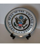Great Seal of the Ubited States Pearlized Plate w Matching Mug - $15.00