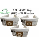 3 Replacements HEPA Ridgid VF3501 3-4.5 Gallon Wet/Dry Vacuum Bags Part ... - $12.99