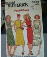Butterick 6566 Misses Dress Pattern - Size 14 & 16 Bust 36-38 Waist 30-32 - $11.13
