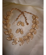 Vintage MOP Gold Tone Butterfly Necklace - $20.00