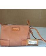 MAGGI B Leather Trim Wristlet Tan/Tan NWT $18 - $16.88
