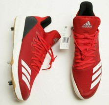 Adidas Boost ICON 4 Men Metal Baseball Cleats Size 13 Power Red CG5158 Shoes - $44.54