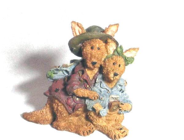 "Boyds Bearstone ""Joey & Alice Outback..The Trekkers""  #2432- 1E-NIB- Retired"