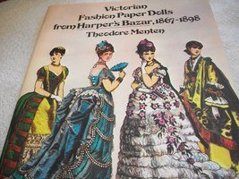 Victorian Fashion Paper Dolls from Harper's Bazaar, 1867-1898 - $10.00