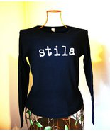Stila Cosmetics Black Long Sleeve T-Shirt Tee J... - $15.99