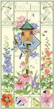 A Cottage Garden floral birdhouse cross stitch chart Kooler Design Studio - $12.60