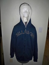 MEN'S GUYS BILLABONG SHERPA LINED ZIP-UP FLEECE HEAVY HOODIE NAVY BLUE N... - $49.99