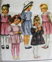 Vintage Girls Dress Top or Pinafore Simplicity 8573 Sewing Pattern Size ... - $9.95
