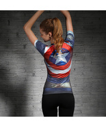Marvel Heroes T Shirt Women Caption America 3D Print Avenger Compression... - $24.99