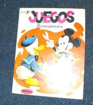 Disneyland Disneylandia Juegos book mexico 1970s - $14.99