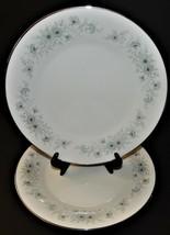 2 Noritake Inverness 6716 Dinner Plates 442239 Blue Flower Pattern  - $32.66