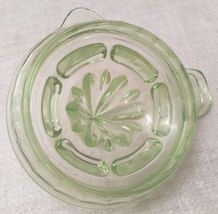 Vintage Uranium Juicer Reamer Depression Vaseline Glass Tab Handle Pour Spout image 6