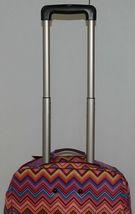 Hadaki Brand HDK879 Multi Color Chevron Plane Hopping Roller Suitcase image 8