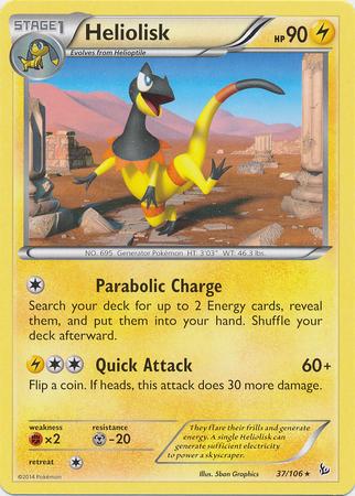 Heliolisk 37/106  Rare  XY Flashfire Pokemon Card image 3