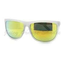 Oversized Square Sunglasses Matted Bright Summer Colors Multicolor Lens - $6.25