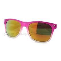 Classic 80's Horn Rim Sunglasses Color Fade Frames Mirror Lens - $7.15