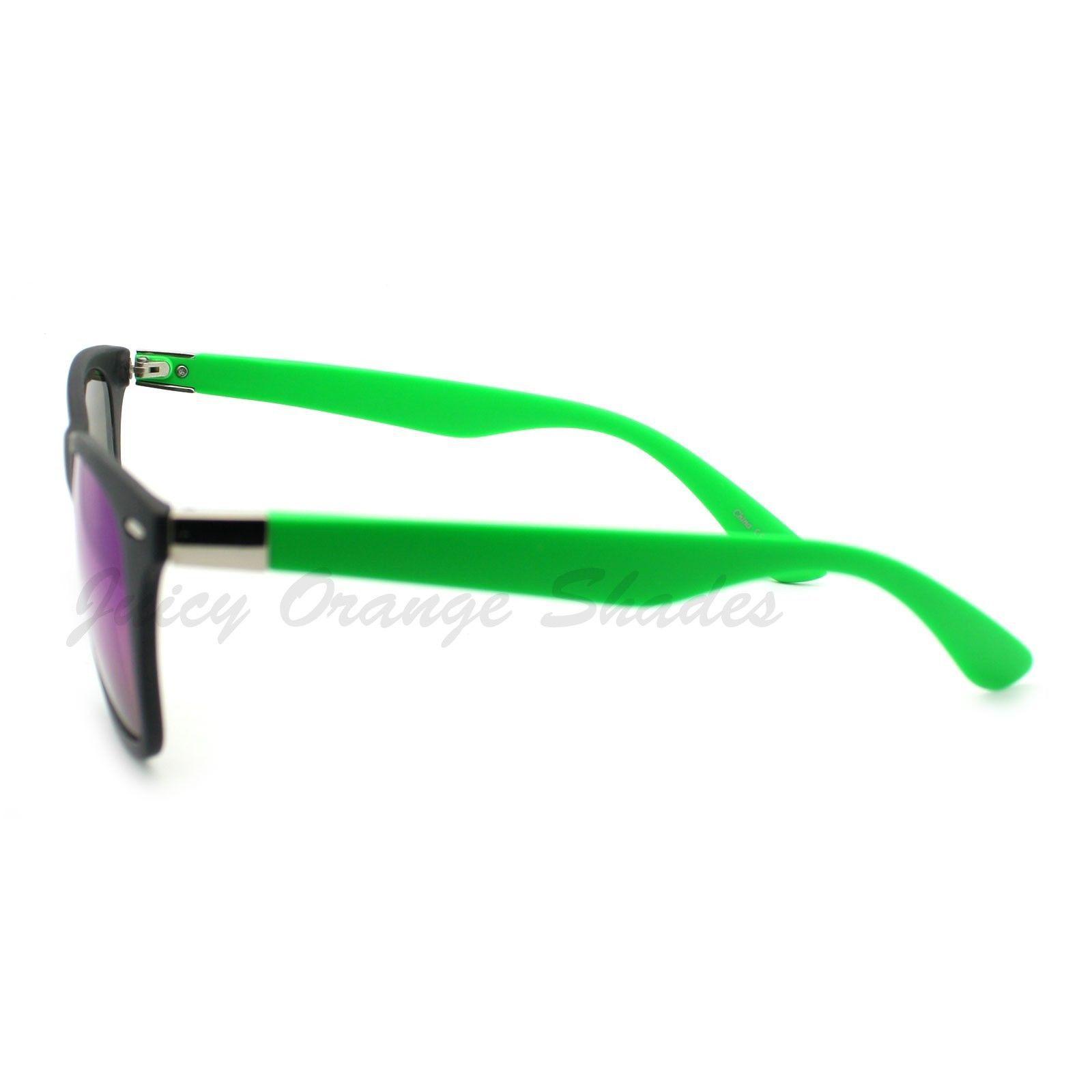 Thin Square Horn Rimmed Sunglasses Classic & 2-tones Unisex