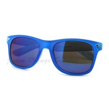 Bright Colorful Mirrored Lens Sunglasses Frosty Matte Finish - $7.95