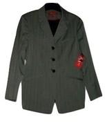 A/Line Women's Blazer Jacket Gray Blue Pinstripe Black Lining 3 Button S... - $19.97