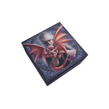 DRAGONKIN YOUNG DRAGON WITH TRAINER JEWELRY MIRROR BOX BY ANNE STOKES - $13.85