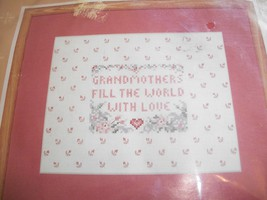 """""""Grandmother's Love"""" Stamped Cross Stitch Kit: Comes with Fabric, Floss & Direct - $12.00"""