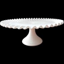 Fenton Hobnail Milk Glass Pedestal Cake Plate w... - $84.14