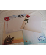 20 Sheets Decorative Paper Stationary 8.5 x 11 Red Rose Dolphins Sailboa... - $4.94