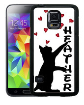 PERSONALIZED RUBBER CASE FOR SAMSUNG S5 S6 S7 S8 EDGE PLUS CAT PAWING HE... - $12.98