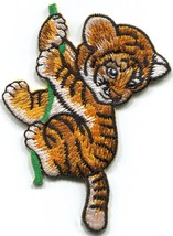 Tiger cub baby cat jungle wildlife embroidered applique iron-on patch S-... - $2.95