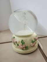 San Francisco music box snow globe Clear Dancer in glitter snow Rare Vin... - $85.00