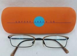 Authentic Jean LAFONT MINIE 463 Brown Eyeglass Frames Paris France 49-18... - $29.69