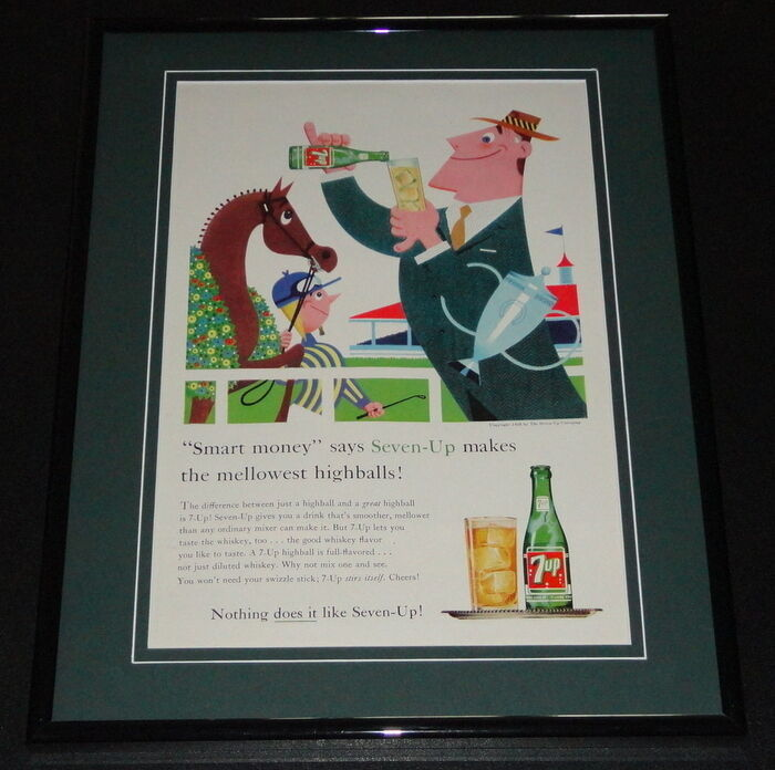Primary image for 1958 Seven Up 7 Up Highballs 11x14 Framed ORIGINAL Vintage Advertisement