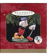 HALLMARK KEEPSAKE ORNAMENT ~ MICKEYS LONG SHOT ~ GOLF ~ MICKEY & CO ~ 19... - $3.55