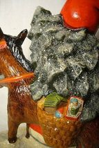 Vaillancourt Folk Art Father Christmas on a donkey  signed. by Judi! Last one! image 7