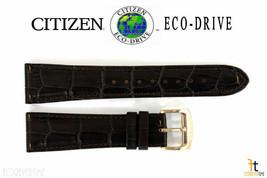 Citizen Eco-Drive CA0331-13A 22mm Original Cuir Marron Bracelet de Montre - $69.32