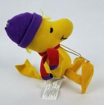 "Peanuts Woodstock 7"" Plush Bird Rattles Winter Hat Scarf Whitmans Chocol... - $14.50"
