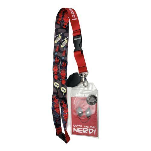 Deadpool Lanyard with ID Badge Holder Cell Phone Holder Handmade