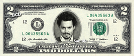 JOHNNY DEPP on REAL TWO Dollar Bill Cash Money Collectible Memorabilia C... - $12.22