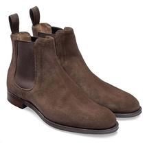 Handmade Chelsea Boot Cedar Brown Color Side Elastic Slip On Suede Leath... - $149.99+