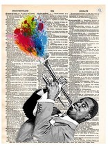 Art N Wordz Louis Armstrong Dictionary Page Pop Art Print Poster - $21.00