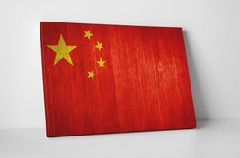 "Vintage Flag of China Gallery Wrapped Canvas 20""x30"" - $53.41"
