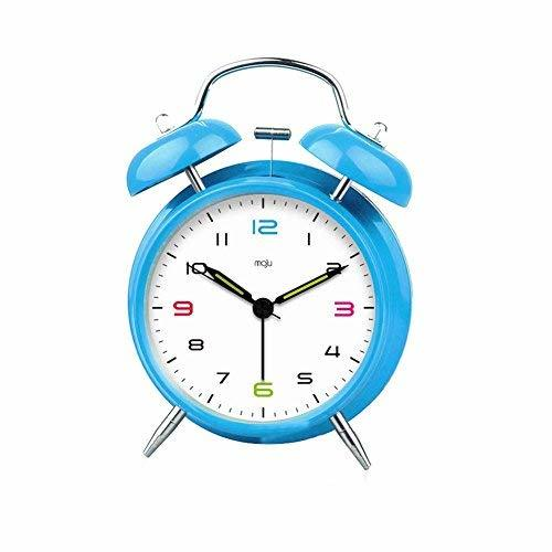 Primary image for Panda Superstore Analog Alarm Clock Blue Silent Twin Bell Alarm Clock Super Loud
