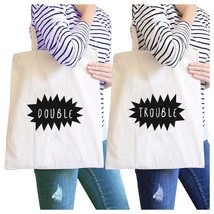 Double Trouble BFF Matching Natural Canvas Bags - $41.13 CAD